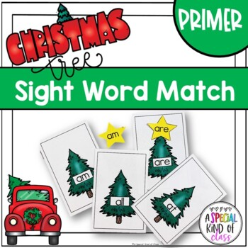 Christmas Tree Sight Word Match Dolch Primer List