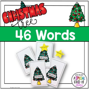 Christmas Tree Sight Word Match Dolch Second Grade