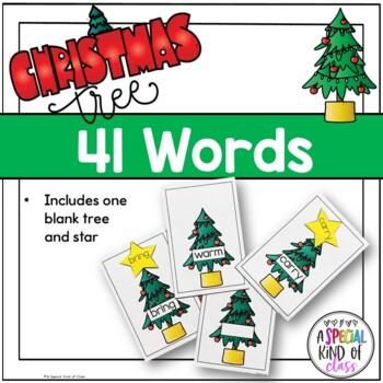 Christmas Tree Sight Word Match Dolch Third Grade List
