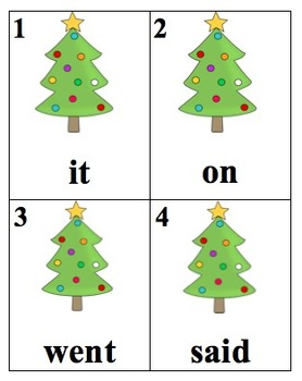Editable Christmas Tree Sight Word Search