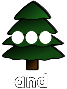 Christmas Tree Sight Word Spelling - Dolch Pre-primer Words - Literacy Center