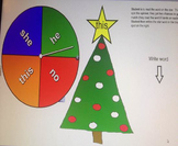 Christmas Tree Sight Words for Smartboard