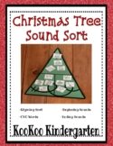 Christmas Tree Sound Sorts-A Differentiated Literacy Center