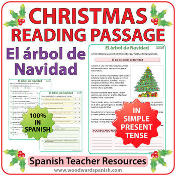 Christmas Spanish.Christmas Tree Spanish Reading Passage El Arbol De Navidad