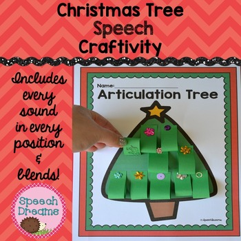 Christmas Tree Speech Therapy Craft