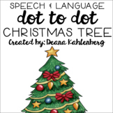 Christmas Tree {Speech & Language Dot Art}