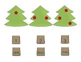 Christmas Tree Stump Math Match