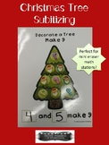 Christmas Tree Subitizing Math Station - Mini Eraser Activity