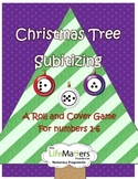Christmas Tree Subitizing Roll and Cover Freebie