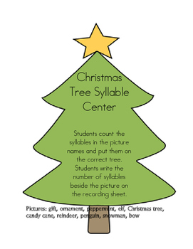 Christmas Tree Syllable Center