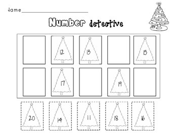 Christmas Tree TEEN number order
