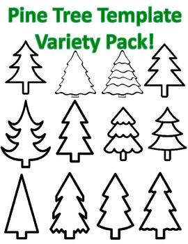 christmas tree templates pine tree templates evergreen tree