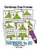 Christmas Tree 10 & 20 Frames Math Center Activities