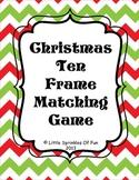 Christmas Tree Ten Frames Matching Game