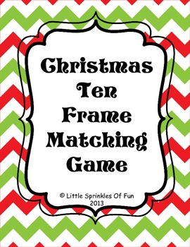 Christmas Tree Ten Frames Matching Game