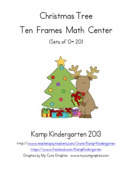 Christmas Tree Ten Frames Math Center FREEBIE