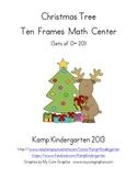 Christmas Tree Ten Frames Math Center FREEBIE