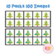 Christmas Tree Ten Frames Math Clip Art Bundle-100 Images [TeKa Kinderland]
