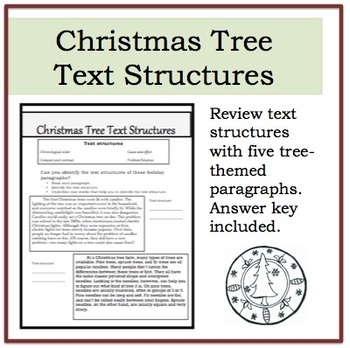 Christmas Tree Text Structures