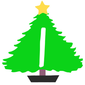 Christmas Tree Theme Bulletin Board Letters/Numbers Holiday Theme Clip Art
