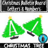 Christmas Tree Theme Bulletin Board Letters/Numbers Holida