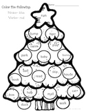 Christmas Tree Themed Language and Math Pack