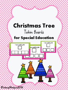 Christmas Tree Token Boards for Special Education FREEBIE