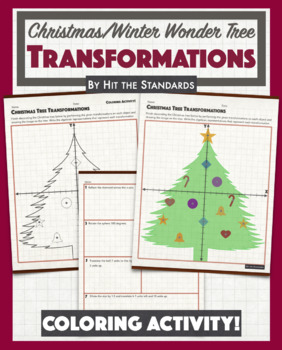 Christmas Tree Transformations Coloring Winter Activity.