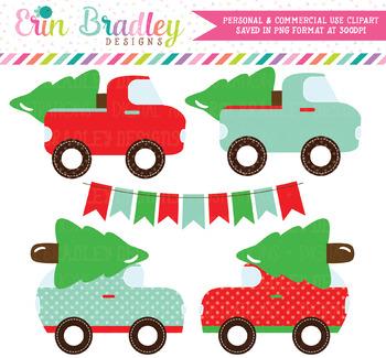 Christmas Tree Transportation Clipart
