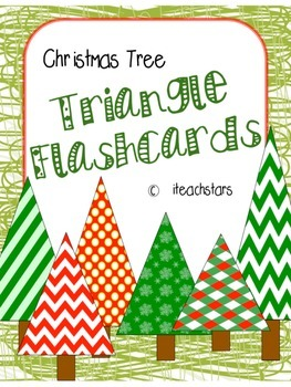 {FREEBIE} Christmas Tree Addition Triangle Flashcards Facts to 10