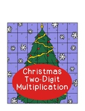 Christmas Tree Two-Digit by Two-Digit Multiplication  Puzz