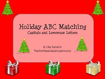Christmas Tree Upper/Lowercase Alphabet Matching