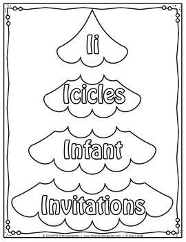 Christmas Tree Vocabulary Puzzles A to Z