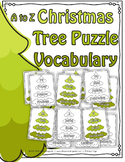 Christmas Tree Vocabulary Puzzles A to Z