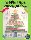 Christmas Tree Speech Therapy Washi Tape Activity No Prep Print and Go!
