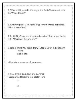 Christmas Tree Web Quest