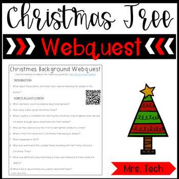 Christmas Tree Webquest