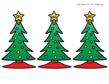 Christmas Tree Word Families