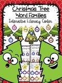 Christmas Tree Word Families - Literacy Center - 35 Word Families