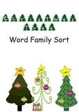 Christmas Tree Word Family Sort