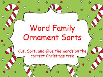 Christmas Tree Word Sorts
