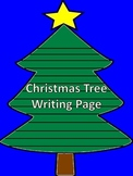 Christmas Tree Writing Page