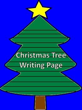 Christmas Tree Writing Page