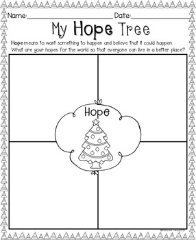 Christmas Tree Writing Craftivity- My Hope for the World