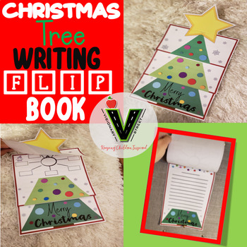 Christmas Tree Display Board.Christmas Tree Writing Flip Book