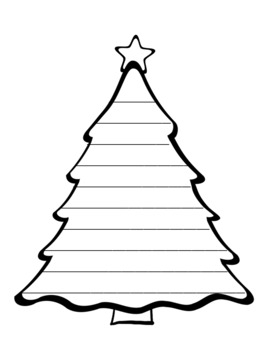 Christmas Tree Writing Paper Christmas Tree Writing Templates Christmas Paper