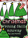 Christmas Tree Writing Skills Center Activity for Preschool