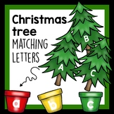 Christmas Tree activity- matching upper and lower case letters from the alphabet