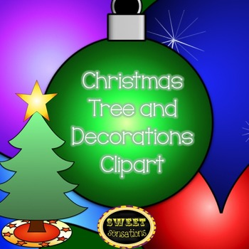 Christmas Tree and Decorations Clipart