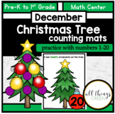 Counting Activity -Christmas Tree Counting Mats